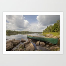 Perfect Boundary Waters Day Art Print