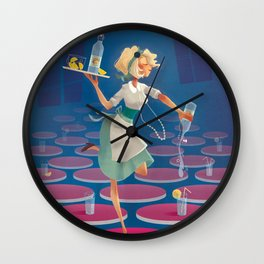 "vintage poster ""Limonade Fontestorbes"" Wall Clock"