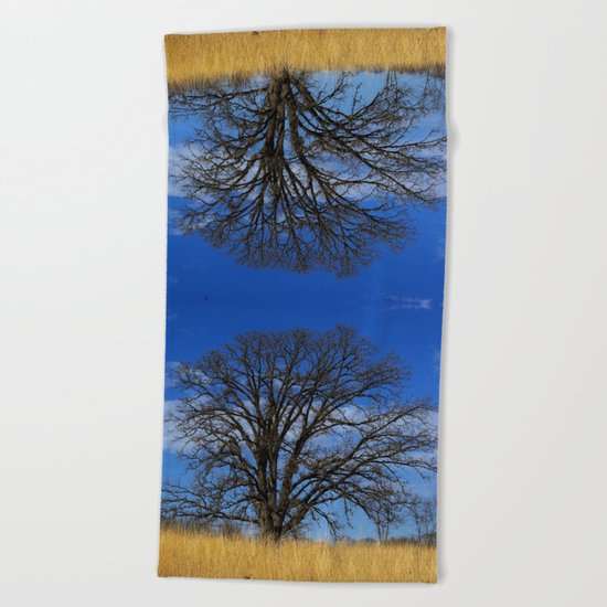 Prairie oak swirl Beach Towel