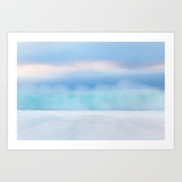 Misty Abstract Wave, Carmel Art Print