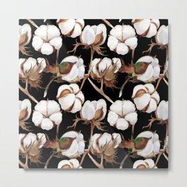 Cotton Flower Pattern 04 Metal Print