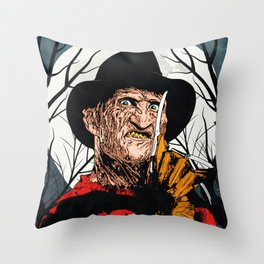 "Freddy Krueger ""SLEEP KILLS!"" Throw Pillow"