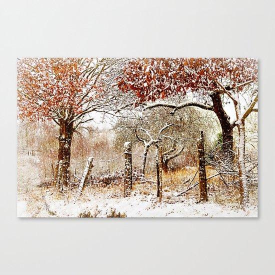 Painterly winter Canvas Print