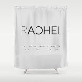 Rachel Duncan Binary Shower Curtain