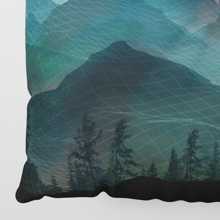 Mountain Sunrise II Floor Pillow