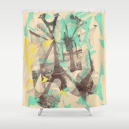 Paris Inception Shower Curtain