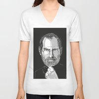 steve jobs V-neck T-shirts featuring Steve Jobs by 1and9