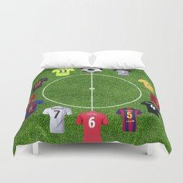 Football soccer best players clock Duvet Cover