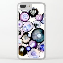 Purple Agate Cluster Clear iPhone Case
