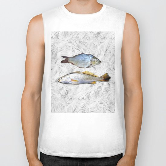 Fish on Fur Biker Tank