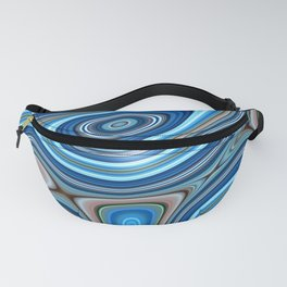Blue World Swirls and Waves Fanny Pack