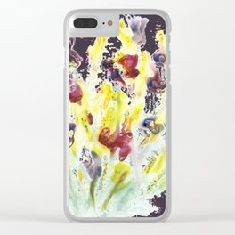 Bursting Bunch of Blots Clear iPhone Case