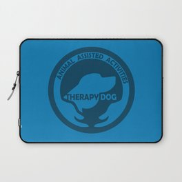 Animal Assisted Activities  - THERAPY DOG logo dog help Laptop Sleeve