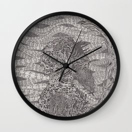 Waiting for the Knight Wall Clock