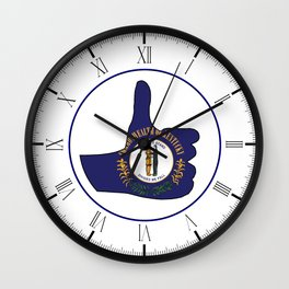 Thumbs Up Kentucky Wall Clock