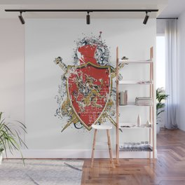 Griffin Shield - Swords - Coat of Arms Wall Mural