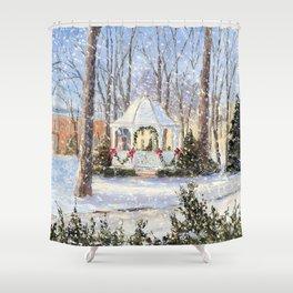 Christmas Gazebo in Petoskey Shower Curtain