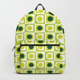 Geometric Pattern #210 (lime green) Backpack