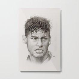 Neymar Metal Print
