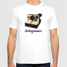 instagrammer Mens Fitted Tee SMALL White