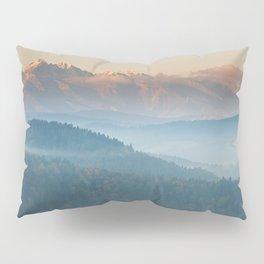 The mountains are calling #sunset Pillow Sham