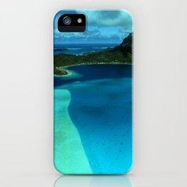 Bora Bora Lagoon Aerial iPhone Case