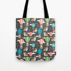 Corgis in Hot Air Balloons - cute dog design Tote Bag