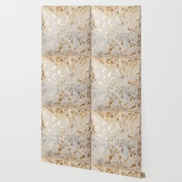 Gold Hide Print Metallic Wallpaper