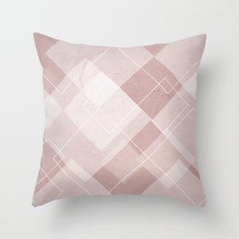 Overlapping Diamond Design in Shell Pink Throw Pillow