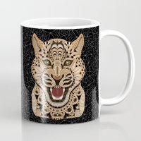 leopard Mugs featuring Leopard by ArtLovePassion