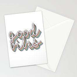 good vibes pastel Stationery Cards