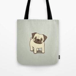 Pug Puppy Illustration Tote Bag