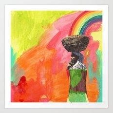 carrying Art Print