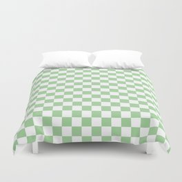 Mint Checkerboard Pattern Duvet Cover