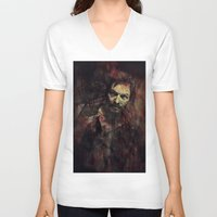 daryl V-neck T-shirts featuring Daryl Dixon by Sirenphotos