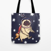 interstellar Tote Bags featuring Interstellar by Lixxie Berry Illustration