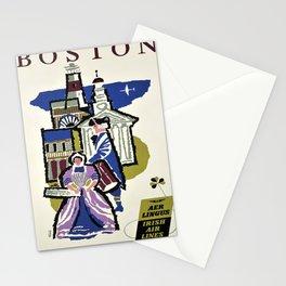 Advertisement air lingus boston lignes aeriennes Stationery Cards