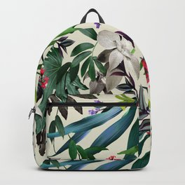 Botanical tropical flowers Backpack