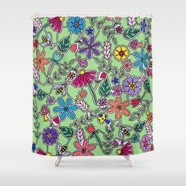 Bee Garden Shower Curtain
