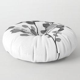 Watercolor Leaves II Floor Pillow