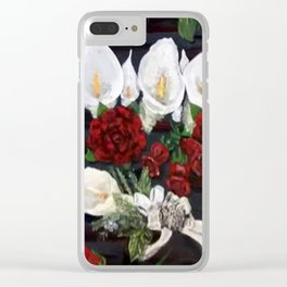 Lillies ad Roses Clear iPhone Case