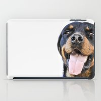 rottweiler iPad Cases featuring Happy rottweiler by StarsColdNight