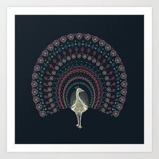 The Neon Peacock Art Print