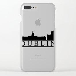 dublin skyline Clear iPhone Case
