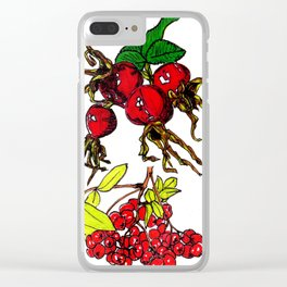 Autumn Fruits Clear iPhone Case