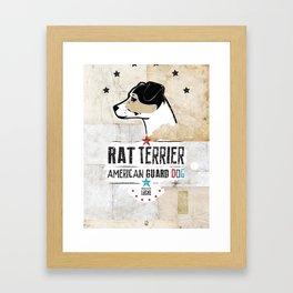 Rat Terrier: American Guard Dog Framed Art Print