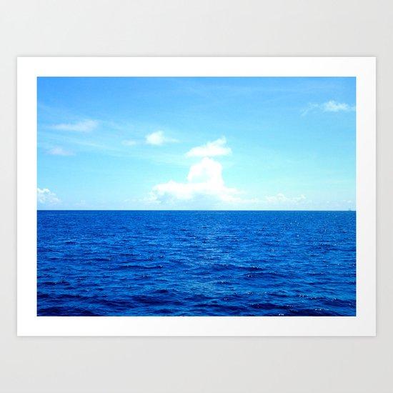 Serene Blue Water Art Print