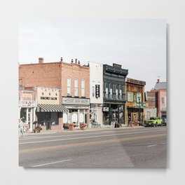Vintage American Town Photo Print   Streets Of Panguitch Utah Photo Art   Color Travel Photography Metal Print