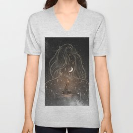 I see the universe in you. Unisex V-Neck
