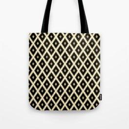 Black White Gild Diamond Pattern Tote Bag